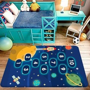 Tapete de Atividades Infantil Amarelinha no Espaço Único