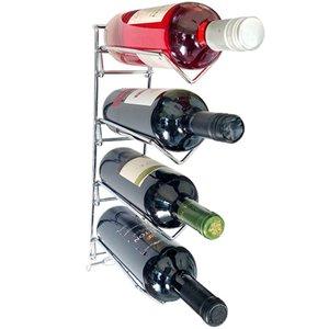 Adega Para Parede Aramado Cromado Suporte 4 Garrafas Vinho