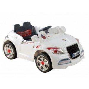 Carrinho Carro Elétrico Esporte 6v Branco Crianças Belfix