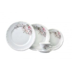 Conjunto Jantar Chá 30 Peças Eterna Porcelana Schmidt