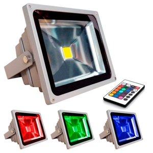 Refletor de Led RGB 30w Real Memória no Controle Refletor de Led RGB 30w Memória no Controle