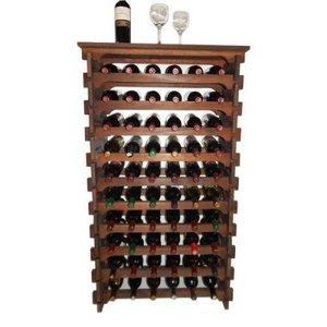 Adega Madeira Vinho 60 Garrafas Mesinha Cor Embuia C06