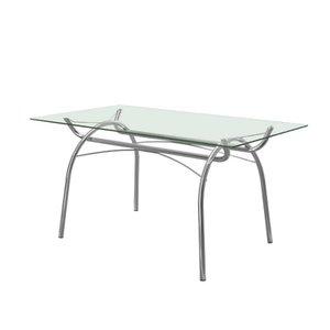 Mesa de Jantar em Aço com Tampo de Vidro 379 Carraro - Cromado