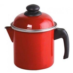 Leiteira Aço Esmaltado 16 1,8 litros Vermelho Ewel