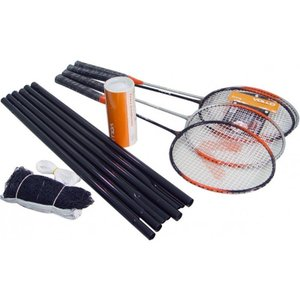 Kit de Badminton com 4 Raquetes e 3 Petecas Vollo VB004