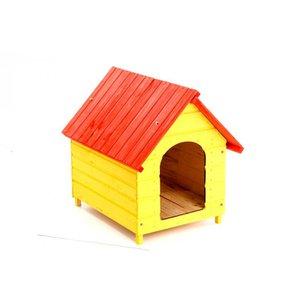 Casa Casinha Cachorro Madeira N. 06 Colorida