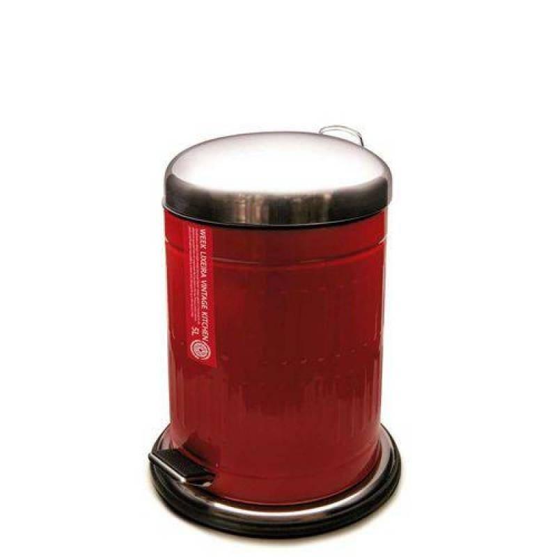 Lixeira 5L Vintage Week Vermelha Yoi