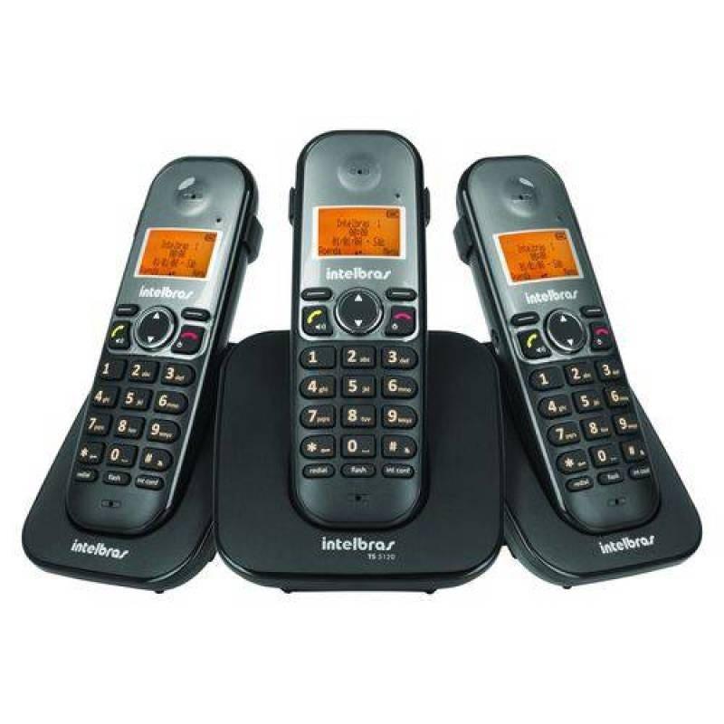 Telefone sem fio digital com 2 ramais adicionais - TS 5123