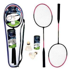 Kit Badminton com 2 Raquetes e 2 Petecas