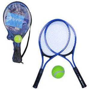 Raquete De Tenis Com 2 Unidades + Bolinha Na Bolsa
