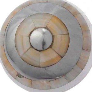 Esfera de Metal e Madrepérola - 10 cm