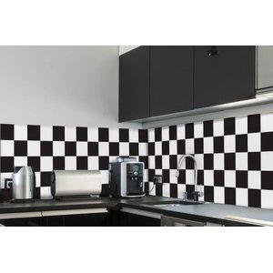 Adesivo de Azulejo Cozinha Xadrez 15 x 15cm 36 unidades