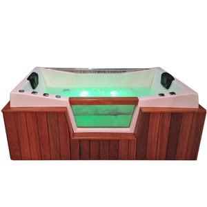 Banheira de Hidromassagem Havanna Luxo Dupla 1,90x1,10x0,70 Gel Coat-Completa+Base+Acionador+Deck