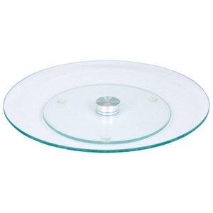 Prato Giratório em Vidro Transparente Temperado - 30cm - Wincy