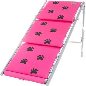 Escada Para Cães e Gatos Tubline Dobrável Rosa