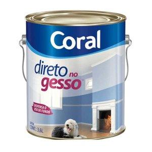 Tinta Direto no Gesso acrílica 3,6 litros branco Coral