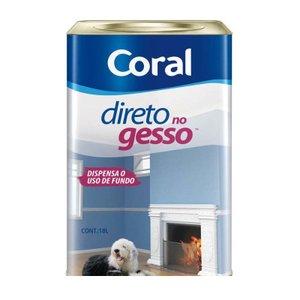 Tinta Direto no Gesso acrílica 18 litros branco Coral