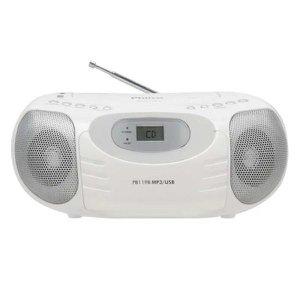CD Player Portátil Philco PB119B com MP3, Entrada USB, Entrada Auxiliar e Rádio FM 4W