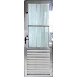 Porta De Aluminio Postigo 2,10 X 0,80 Direita Linha All Modular Cor Brilhante