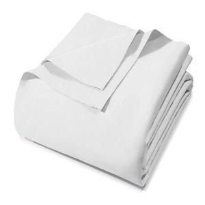 Lençol Solteiro Prata Sem Elástico Branco 150 Fios Santista