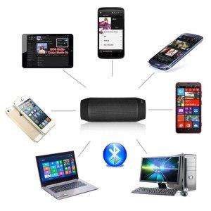 Caixa de som sem fio com Bluetooth, micro SD e rádio FM
