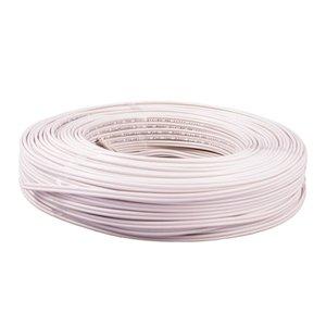 Fio Paralelo 2 X 1,5mm Flexivel Rolo Com 100 Metros Branco