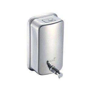 Saboneteira Inox 1000 Ml Biovis - Dispensador Manual De Sabonete Líquido Ou Álcool Gel