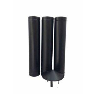 1,80 m de duto preto de 200 mm de diâmetro com chapéu chinês