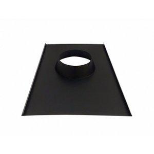 Rufo colarinho de telhado preto para chaminé de 150 mm de diâmetro