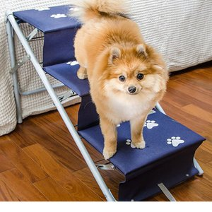 Escada Rampa dobrável para Cães e gatos Tubline Azul