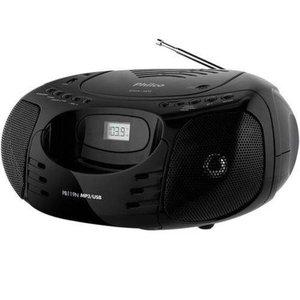 Rádio Portátil Philco - Cd, MP3, USB, Aux. e Fm 5W Rms Bivolt Preto - PB119N