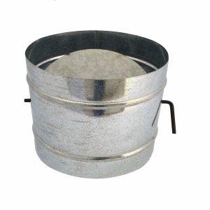 Registro / dumper galvanizado para chaminé de 100 mm de diâmetro