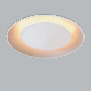 Plafon Eclipse embutir alumínio na cor branco textura para 6 lâmpadas G9