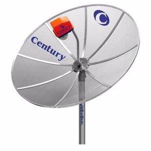 Kit Antena TV Parabolica Century com Antena 1,7m, LNB Multiponto, Cabo, e Conectores
