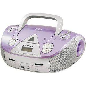 Som Portátil Philco 4W RMS MP3 USB Pb126 Lavanda