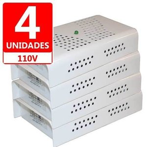 Kit Anti Mofo Eletrônicos Repel Mofo 4 unidades, Anti-Ácaro e Fungos, Desumidificador 110V -