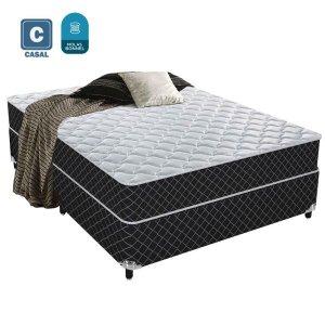 Cama Box Conjugado Casal mola bonnel 138x188x55