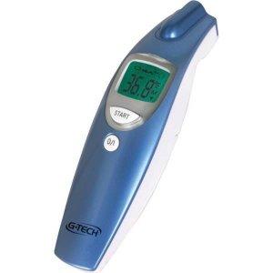 Termômetro Clínico G-Tech Digital de Testa Sem Contato - Medição da Temperatura Corpórea, Ambientes