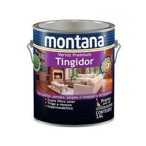 Verniz tingidor brilhante imbuia 3,6L Montana