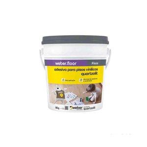 Adesivo para piso vinílico acrílico 18kg branco Quartzolit