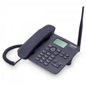 Telefone Fixo Aquário Quadriband CA-42, Dual Chip, Antena Interna - Preto