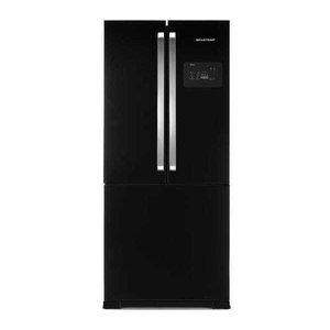 Geladeira Brastemp Frost Free Side Inverse 540 litros Preto com Ice Maker - BRO80AE