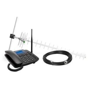 Telefone Fixo Intelbras CFA 6041, 3G, Identificador, Viva Voz - Preto