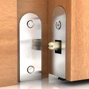 Veda Porta Automático Pino Interno Protetor Alumínio 82cm