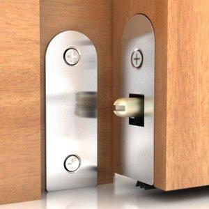 Veda Porta Pino Automático Interno Alumínio Silicone 102cm