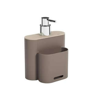 """Dispenser Flat 500 ml Warm Gray Coza e Ligth Gray Coza"""