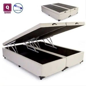 Base Box Baú Queen Bipartido Corino 27x158x198cm