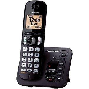 Telefone sem Fio com ID 6.0 1.9 GHZ  KX-TGC220LBB Secretaria Eletronica Expansivel ATE 6 Ramais
