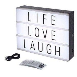 Letreiro Quadro Led Light Box Cinema