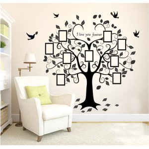 Adesivo de parede árvore genealógica fotos da família